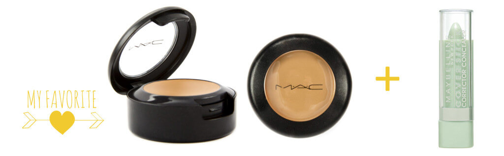 MAC Concealer Final + maybeline green concealer = love it